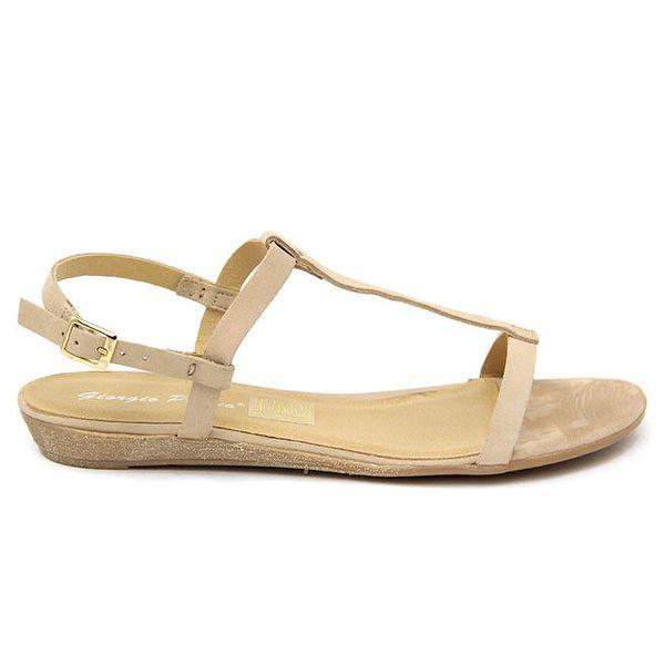 Dámské tělové kožené sandálky Giorgio Picino