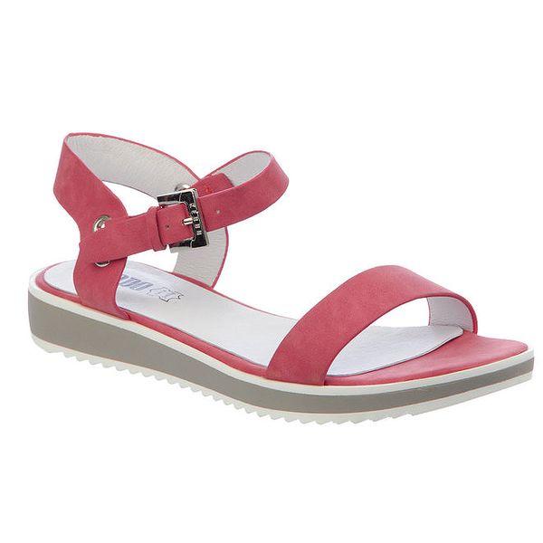 Dámské červené sandálky s přezkou Keddo