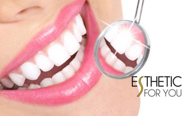 BĚLENÍ ZUBŮ BEZ PEROXIDU za fantasticky nízkou cenu! Profesionální a vyhledávané studio Esthetic For You na Andělu! Bezpečné a efektivní bělení zubů pro krásný zářivý úsměv rychle a bez námahy!!