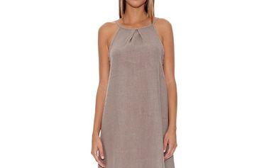 Dámské šedé ramínkové šaty Assuili
