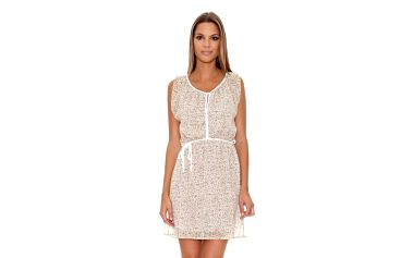 Dámské bílo-béžové šaty Assuili