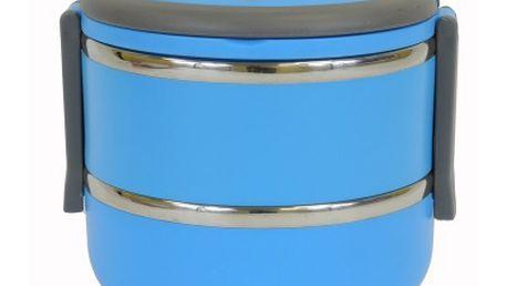 Lunch box v modré barvě. Sada se skládá ze dvou boxů. Výborný pomocník v domácnosti. Lze mýt v myčce. Objem spodní misky je 2x 600ml