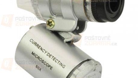 Kapesní mikroskop s LED osvětlením a poštovné ZDARMA! - 20203600