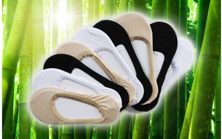 Devět párů kvalitních ponožek do balerínek s bambusovým vláknem. Ideální díky vysoké absorbci potu a zápachu na letní dny.