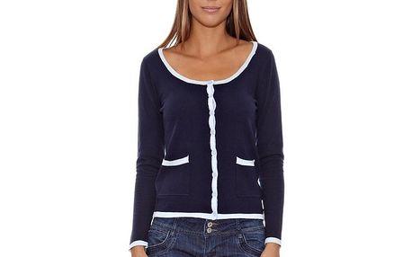Dámský námořnický svetr s bílým lemováním Assuili