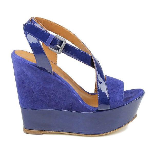 Dámské modrofialové sandálky na platformě Cubanas Shoes