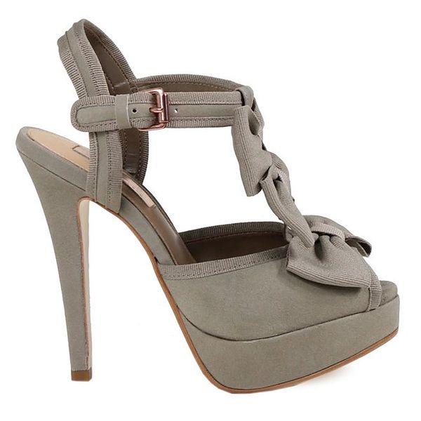 Dámské šedé střevíčky s mašlemi Cubanas Shoes