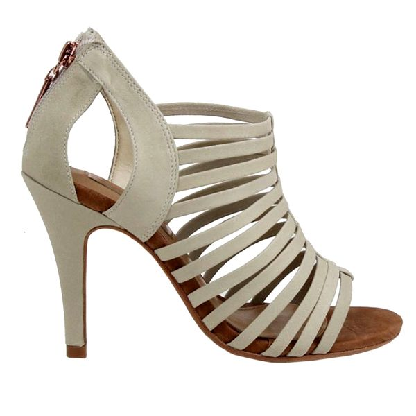 Dámské páskové střevíčky na podpatku v krémové barvě Cubanas Shoes
