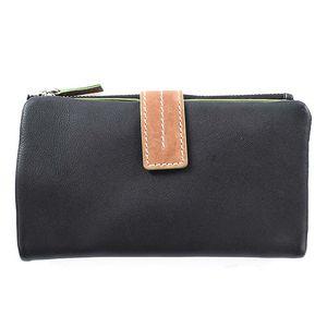Dámská černo-zeleno-hnědá peněženka Puntotres