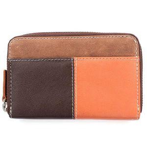 Dámská hnědo-oranžová peněženka Puntotres