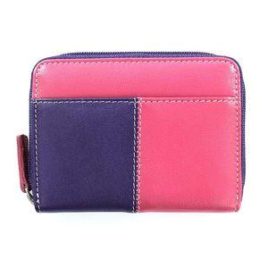 Dámská fialovo-růžová kožená peněženka Puntotres