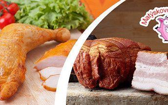 1–2 kg uzeného masa dle výběru s možností rozvozu