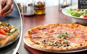 Pizza nebo velký salát pro dva v restauraci Toscana