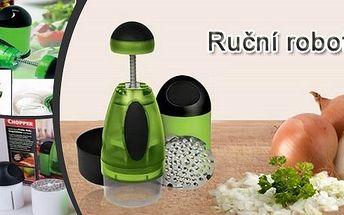 Kompletní sada 2 ručních robotů(malý a velký)Slap - Chop Chopper na výrobu chutných a čerstvých salátů, porcování potravin, nakrájení ovoce i zeleniny na kostičky nebo jemné nudličky