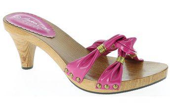 Dámské růžové sandálky se zlatou nití Andrea Conti