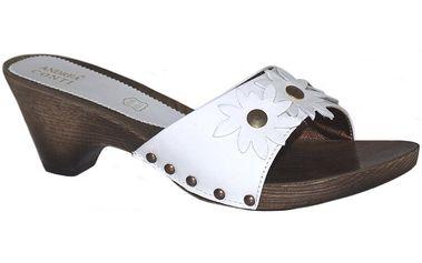 Dámské bílé nazouvací sandály Andrea Conti