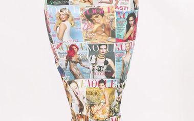 Dámská sukně s potiskem obálek známého časopisu Santa Barbara