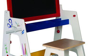 Školní lavice a tabule 2 v 1 - WOODY 91162.