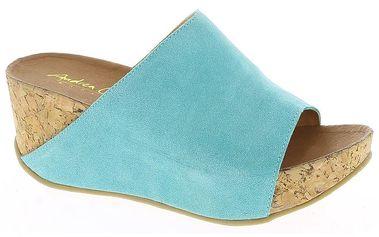Dámské tyrkysové nazouvací sandály Andrea Conti