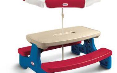 Little Tikes 403V00070 - Piknikový stoleček se slunečníkem