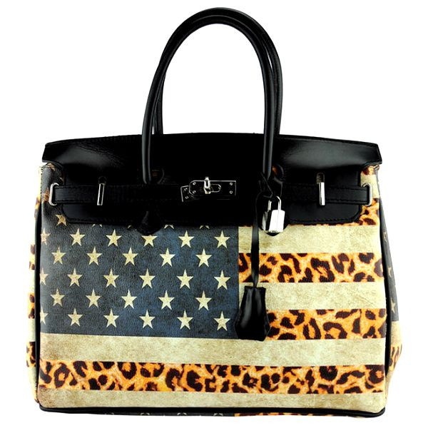 Dámská kabelka se vzorem americké vlajky Giulia