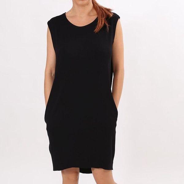 Dámské černé šaty s kapsami Santa Barbara