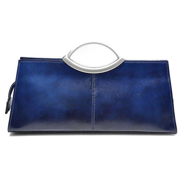 Dámská modrá kabelka s kovovými uchy Giulia