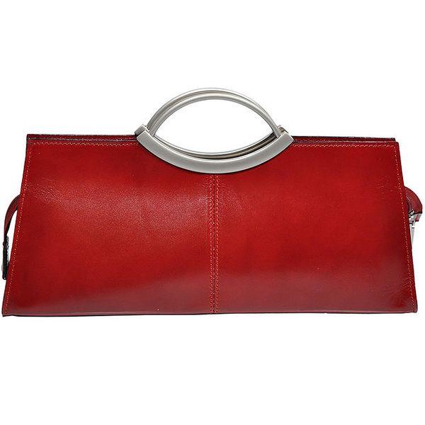 Dámská červená kabelka s kovovými uchy Giulia