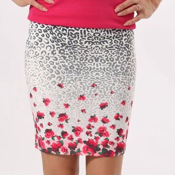 Dámská sukně s růžičkovým potiskem Santa Barbara