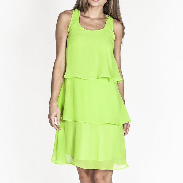 Dámské zelené šaty s kanýry Tantra