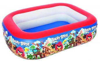 Nafukovací bazén v pestrém designu nejoblíbenějších postaviček Angry Birds 201x150x51 cm