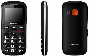 Mobilní telefon pro seniory Aligator A610 vyniká tenkým tělem, velkou robustností a pohodlným ovládáním