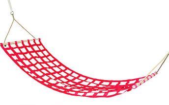Woody 91405 Houpací síť dětská červená