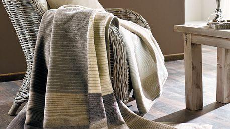 Deka z kolekce Sorrento značky S'Oliver která vás příjemně zahřeje v chladných dnech a v létě zkrášlí interiér vašeho obývacího pokoje.