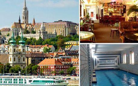 3 nebo 4 dny v Budapešti pro DVA se snídaněmi a obědem.