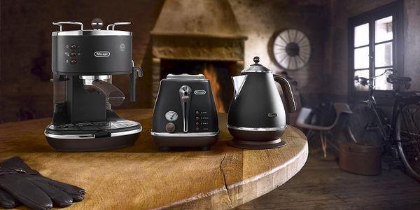 Praktické kávové espresso De'Longhi ECOV 310 BK Icona Vintage