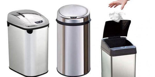 Bezdotykové odpadkové koše ve třech různých provedeních