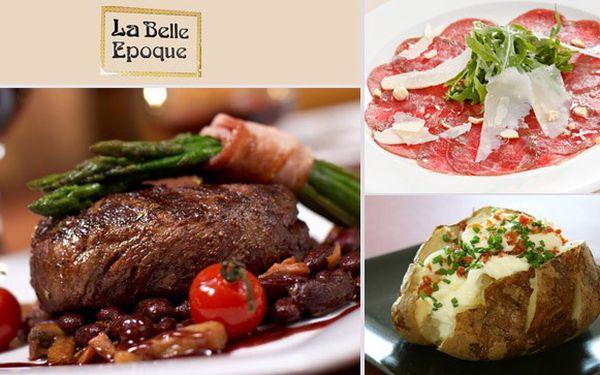 Steaková večeře dle vašeho výběru v Belle Epoque