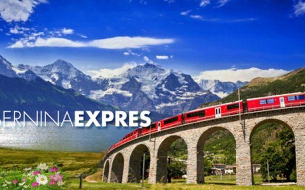 ŠVÝCARSKO LEDOVCOVÝM VLAKEM! 3denní víkendový ZÁJEZD za 1799 Kč! Jedinečný zážitek na nejkrásnější železniční trati na světě Bernina Expres po trase Tirano - St. Moritz! Zažijte přejezd Alp a prohlédněte si Tirano se slevou 54%!
