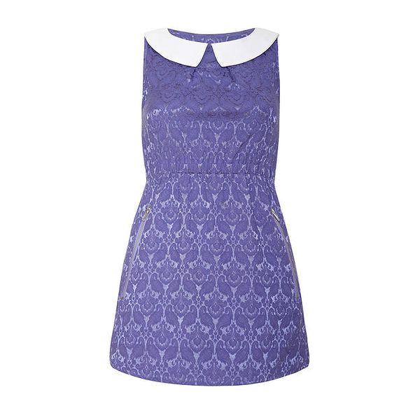 Dámské šaty s fialovým vzorem Iska