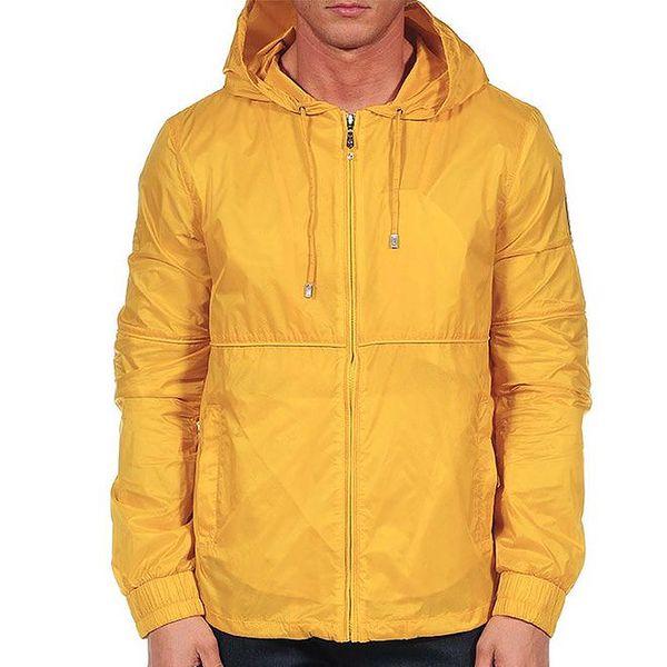 Pánská žlutá bunda s kapucí Calvin Klein