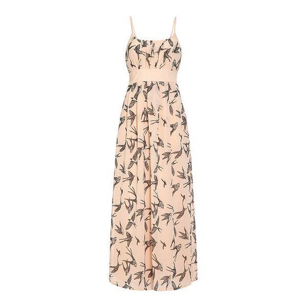 Dámské světle růžové šaty s ptáčky Iska
