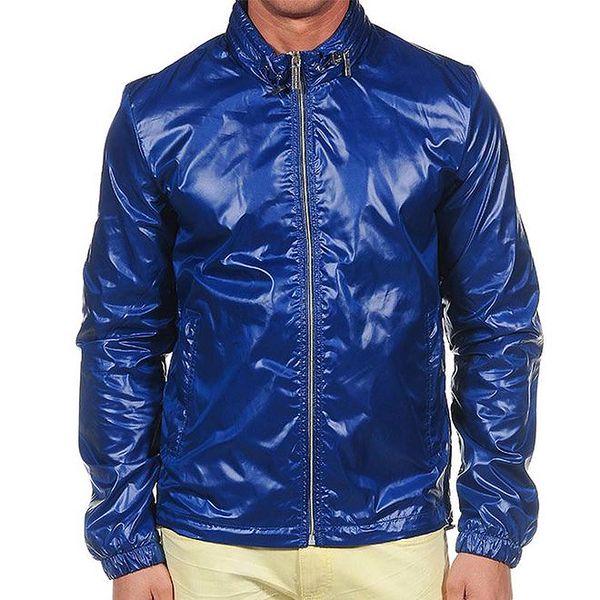 Pánská lesklá modrá bunda Calvin Klein