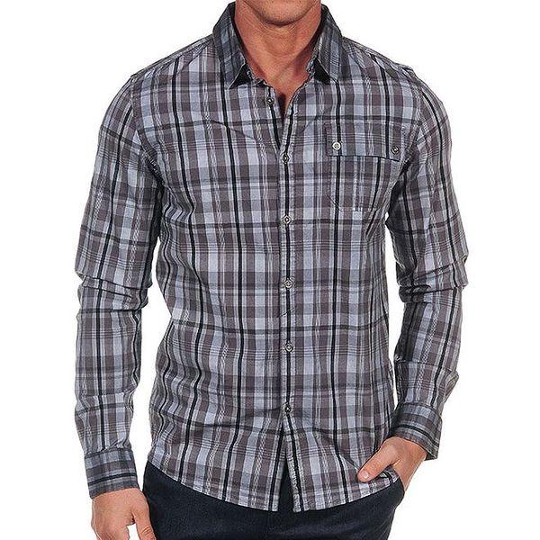 Pánská šedá kostkovaná košile Calvin Klein