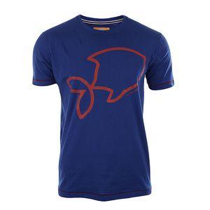 Pánské modré tričko s krátkým rukávem a potiskem A Fish Named Fred