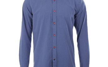 Pánská tmavě modrá košile s puntíky A Fish Named Fred