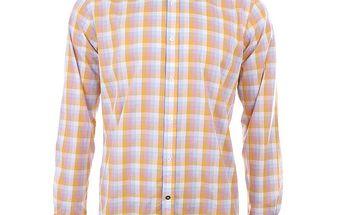 Pánská oranžově kostkovaná košile s dlouhým rukávem A Fish Named Fred