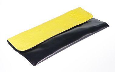 Dámské černé psaníčko se žlutou klopou Belle & Bloom