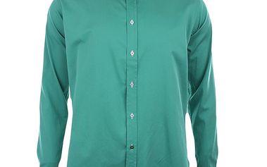 Pánská lahvově zelená košile s dlouhými rukávy A Fish Named Fred