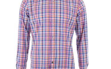 Pánská barevně kostkovaná košile s dlouhým rukávem A Fish Named Fred